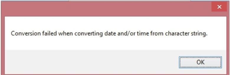 error datetime